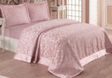 Жакардове покривало Nazenin Alona 240х260см з 2 наволочками 55х80см, рожеве