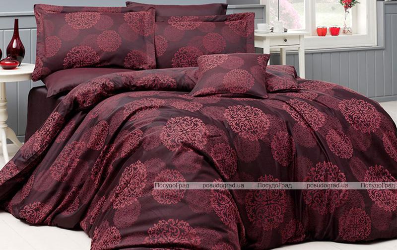 Комплект постельного белья Nazenin Lavida Red Евро (4 наволочки) красный, жаккардовый сатин