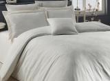 Комплект постельного белья Nazenin Lavida Krem Евро (4 наволочки) кремовый, жаккардовый сатин