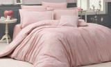Комплект постельного белья Nazenin Lavida Pudra Евро (4 наволочки) розовый, жаккардовый сатин