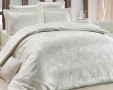 Комплект постельного белья Nazenin Liza Krem Евро (4 наволочки) кремовый, жаккардовый сатин