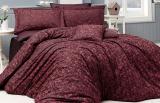 Комплект постільної білизни Nazenin Serena Red Євро (4 наволочки) червоний, жакардовий сатин