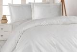 Комплект постельного белья Nazenin Serena Krem Евро (4 наволочки) кремовый, жаккардовый сатин