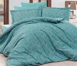 Комплект постельного белья Nazenin Serena Turkuaz Евро (4 наволочки) голубой, жаккардовый сатин