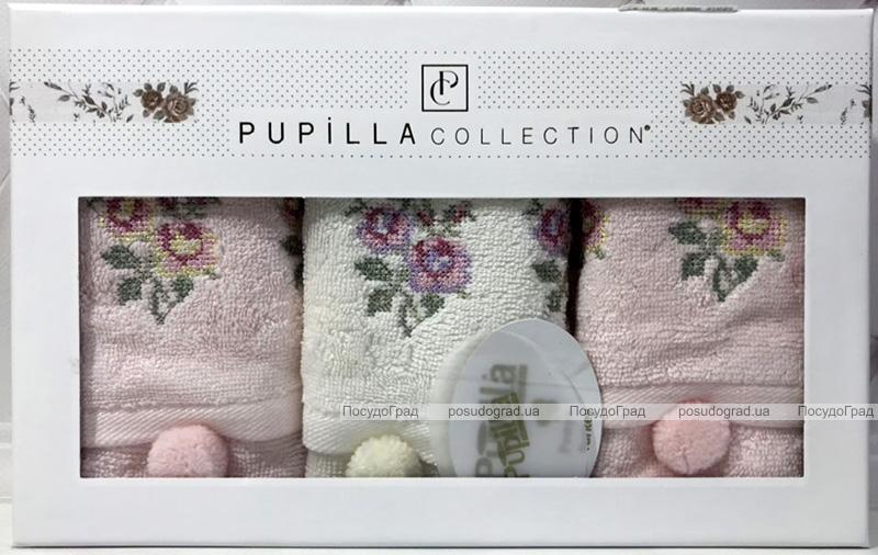 """Набор 3 кухонных полотенца Pupilla Bamboo """"Розы"""" 30х50см"""