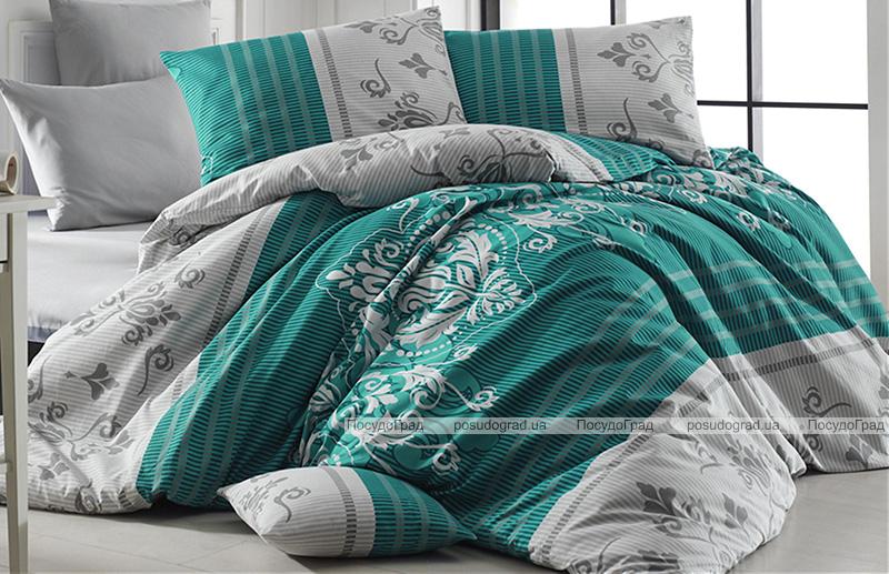 Комплект постельного белья Nazenin Sultans Green Евро, ранфорс