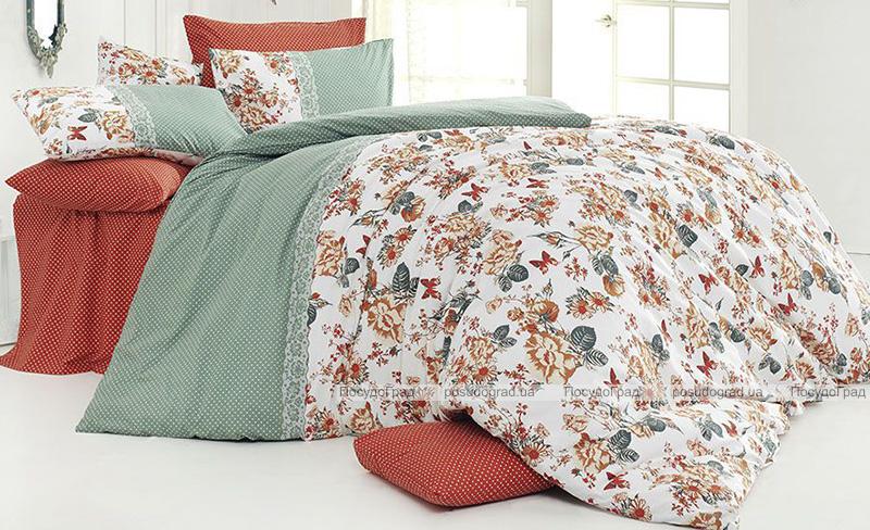 Комплект постельного белья Nazenin Butterfly Kiremit Евро, ранфорс