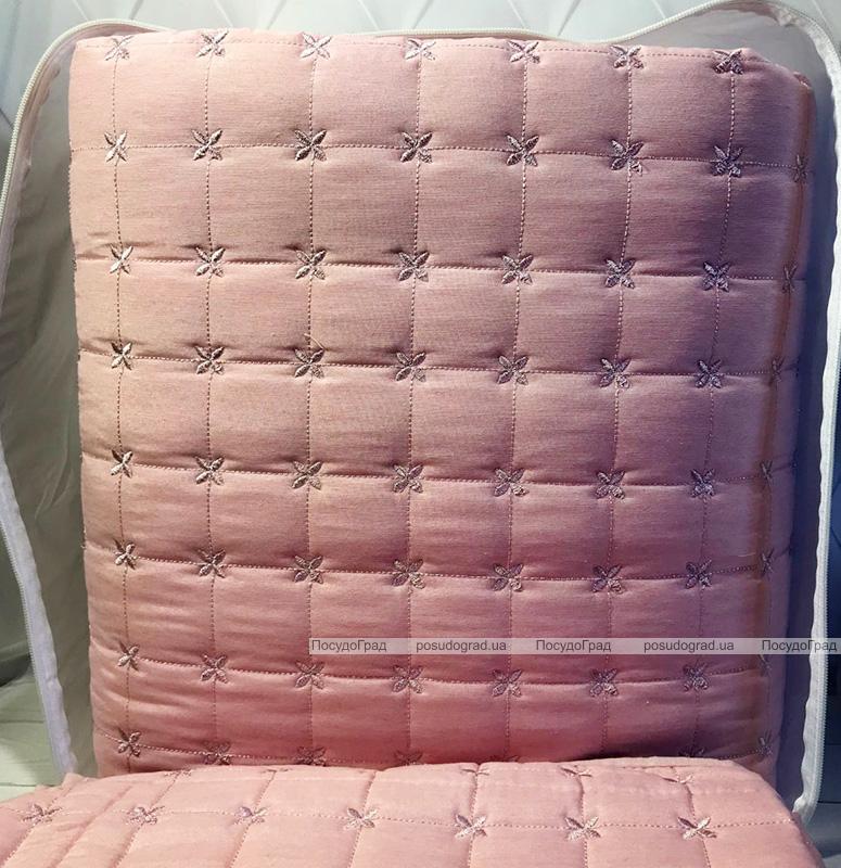 Стеганое покрывало Istanbul Hazal 250х260см с наволочками розовое, коттон (100% хлопок)