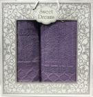 Набор 2 махровых полотенца Sweet Dreams M1 (50х90 и 70х140см) фиолетовые