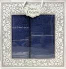 Набор 2 махровых полотенца Sweet Dreams M3 (50х90 и 70х140см) синие