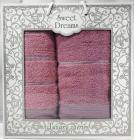 Набор 2 махровых полотенца Sweet Dreams M3 (50х90 и 70х140см) фиолетовые