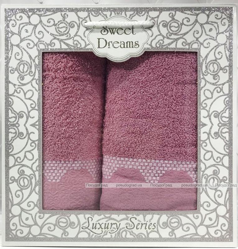 Набір 2 махрових рушника Sweet Dreams M5 (50х90 та 70х140см) бузкові