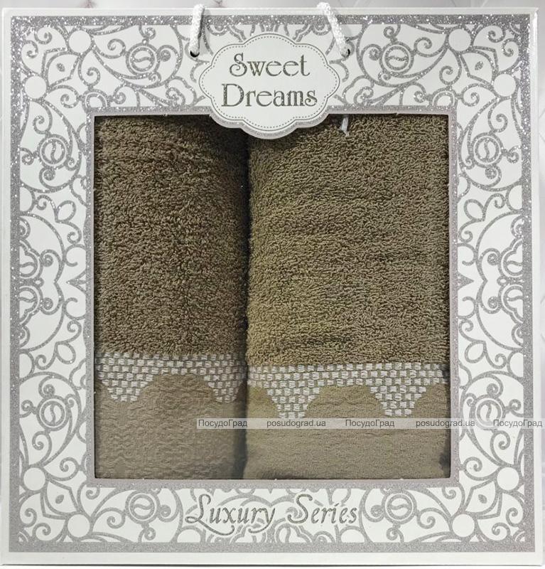 Набір 2 махрових рушника Sweet Dreams M5 (50х90 та 70х140см) зелені
