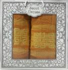 Набор 2 махровых полотенца Sweet Dreams M6 (50х90 и 70х140см) оранжевые