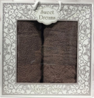 Набір 2 махрових рушника Sweet Dreams M8 (50х90 та 70х140см) коричневий