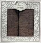 Набор 2 махровых полотенца Sweet Dreams M8 (50х90 и 70х140см) коричневый