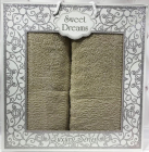 Набір 2 махрових рушника Sweet Dreams M8 (50х90 та 70х140см) зелені