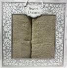 Набор 2 махровых полотенца Sweet Dreams M8 (50х90 и 70х140см) зеленые