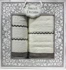 Набор 2 махровых полотенца Sweet Dreams M11 (50х90 и 70х140см) белые