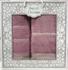 Набор 2 махровых полотенца Sweet Dreams M11 (50х90 и 70х140см) сиреневые