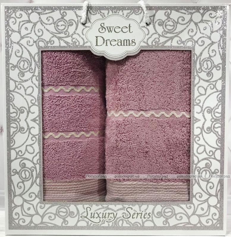 Набір 2 махрових рушника Sweet Dreams M11 (50х90 та 70х140см) бузкові