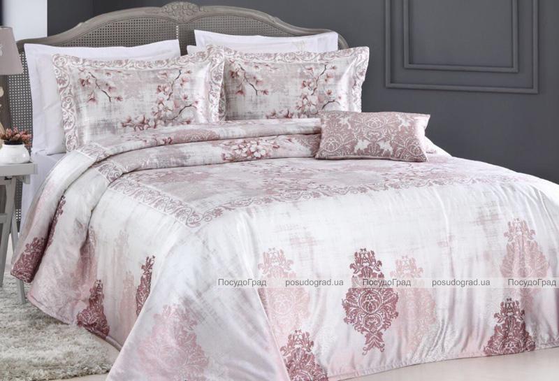 Покривало Pepper Home MIA Pink 270х260см з наволочками і декоративними подушками, сатин