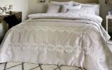 Покривало Pepper Home Melinda 270х260см з наволочками і декоративною подушкою, жаккард