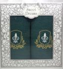 Набор 2 махровых полотенца Sweet Dreams M1 (50х90 и 70х140см) зеленые с вышивкой