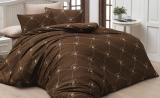 Комплект постельного белья Polo Сlub 006 коричневый Евро, ранфорс