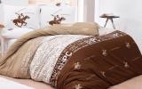 Комплект постельного белья Polo Сlub 004 бежевое Евро, ранфорс