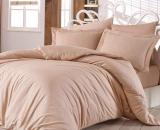 Комплект постельного белья Nazenin Home Евро бежевый (4 наволочки), сатин
