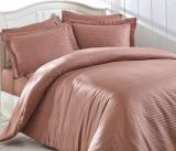 Комплект постельного белья Nazenin Home Евро темно-бежевый (4 наволочки), сатин