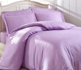 Комплект постельного белья Nazenin Home Евро сиреневый (4 наволочки), сатин