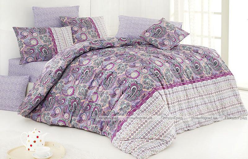 Комплект постельного белья Nazenin Violet Евро, ранфорс
