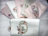 Набір 6 рушників Pupilla Ayal 3D з вишивкою 70х140см (банні), бамбук
