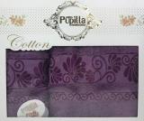 Набор 2 полотенец Pupilla (50х90 и 70х140см) фиолетовые, махра