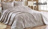 Жакардове покривало ISSI home Cordenya 250х270см з 2 наволочками 50х70см, сріблясто-бежеве