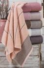Набор 6 махровых полотенец Durul Havlu Ton 70х140см, банные
