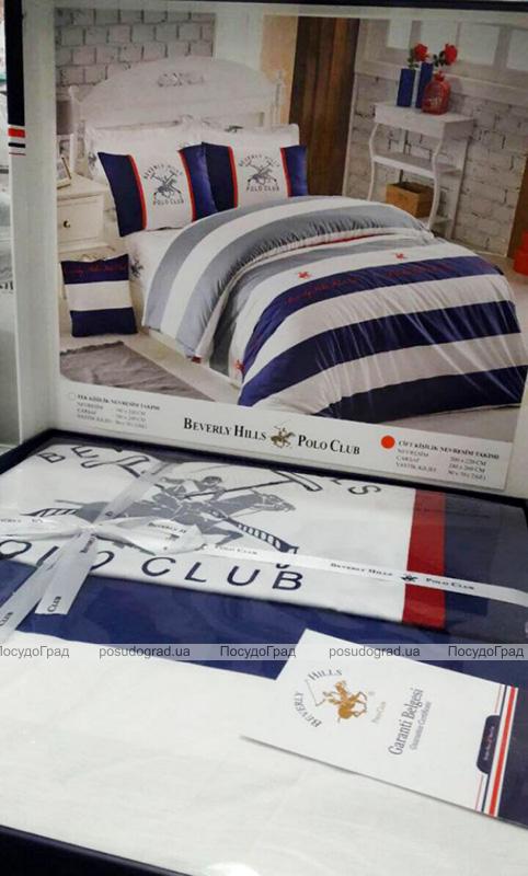 Комплект постельного белья Polo Сlub 009 Евро, ранфорс