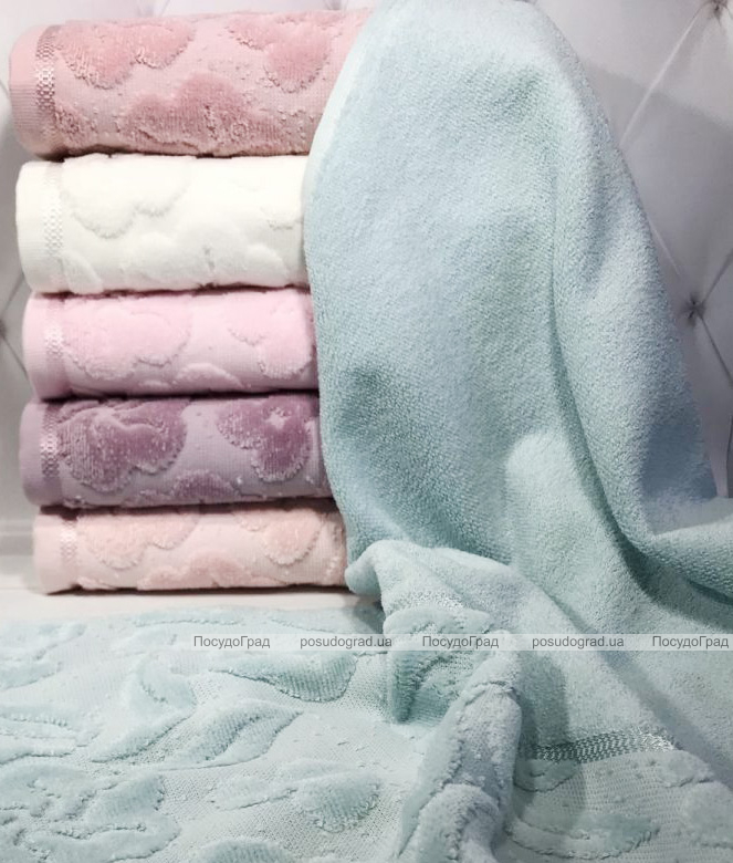 Набор 6 махровых полотенец Durul Havlu Shehzade 50х90см, лицевые