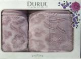 Набор 2 махровых полотенца Durul Shehzade (50х90 и 70х140см) сиреневые