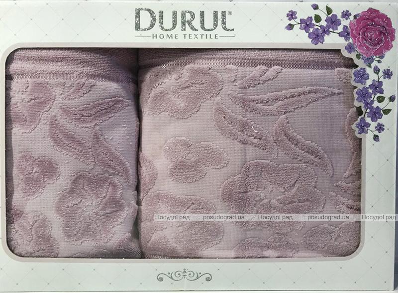 Набір 2 махрових рушника Durul Shehzade (50х90 та 70х140см) бузкові