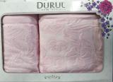 Набор 2 махровых полотенца Durul Shehzade (50х90 и 70х140см) розовые