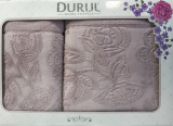 Набор 2 махровых полотенца Durul Padishah (50х90 и 70х140см) сиреневые