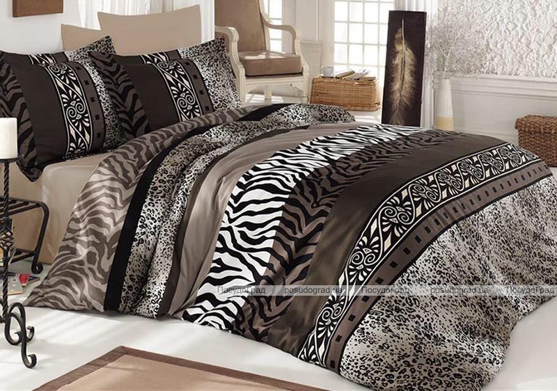 Комплект постельного белья Nazenin Safari Евро (4 наволочки), сатин