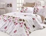 Комплект постельного белья Nazenin Nerissa Kahve Евро (4 наволочки), сатин