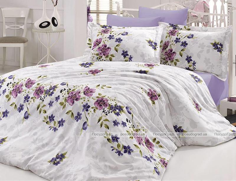 Комплект постельного белья Nazenin Nerissa Lila Евро (4 наволочки), сатин