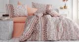 Комплект постельного белья Nazenin Delhi Kahve Евро, ранфорс