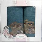 Набор 2 полотенца Durul Panda 3D с вышивкой (50х90 и 70х140см), хлопок