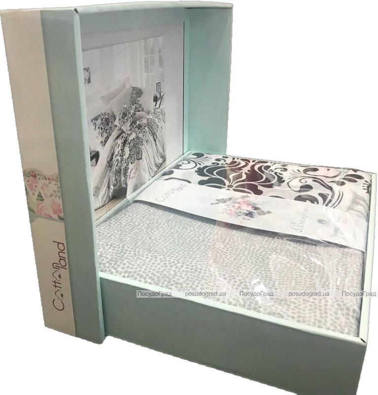 Комплект постільної білизни Nazenin Luxury-Kahve Полуторний, ранфорс